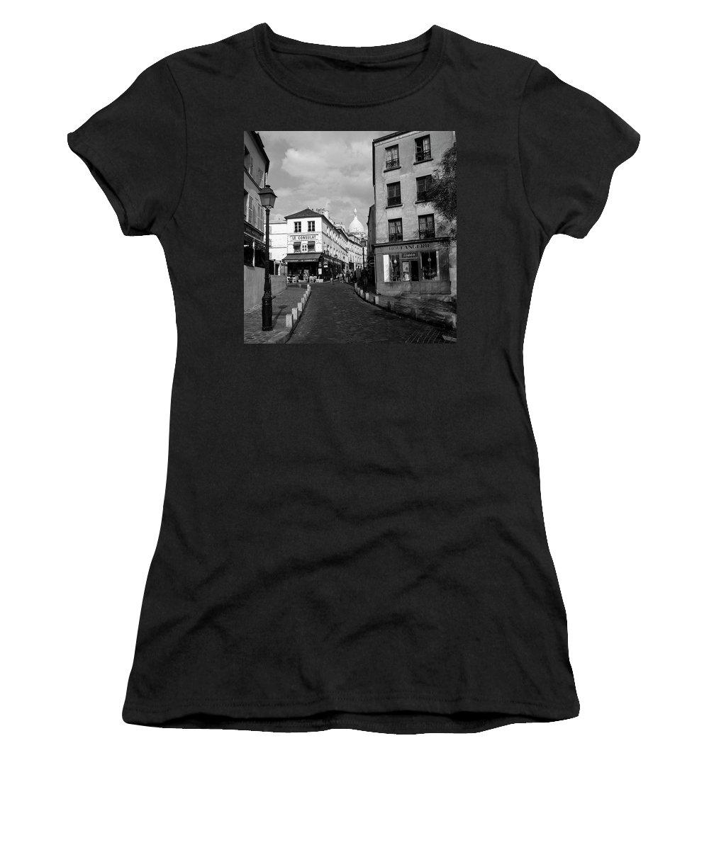 France Women's T-Shirt (Athletic Fit) featuring the photograph Montmarteparis France by Philip Enticknap