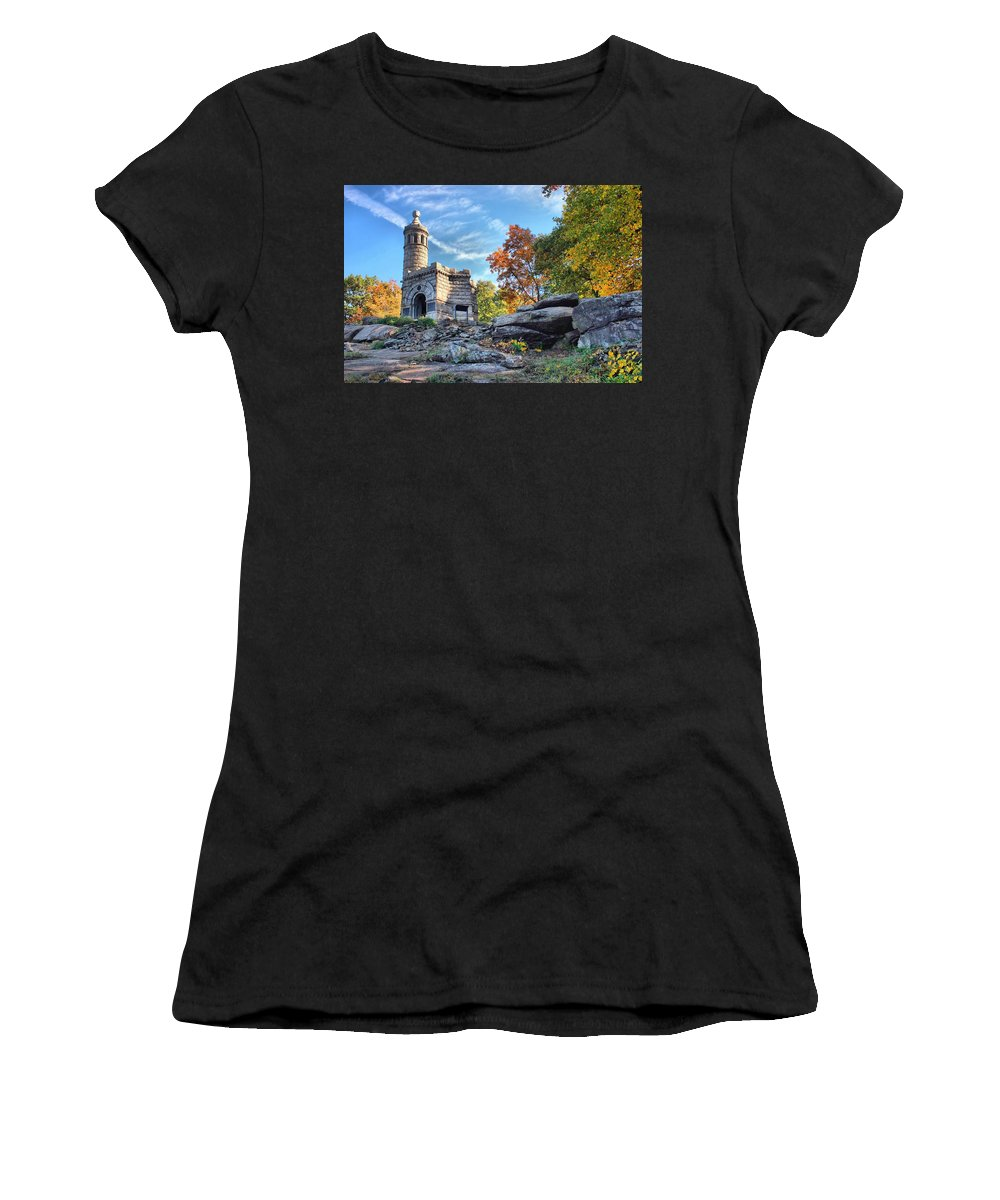 Gettysburg Women's T-Shirt (Athletic Fit) featuring the photograph Monument To The 44th by DJ Florek