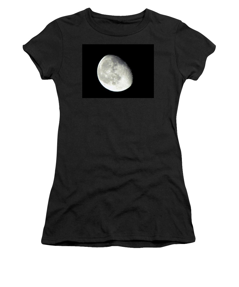 Moon Women's T-Shirt featuring the photograph Moon by Denise Keegan Frawley