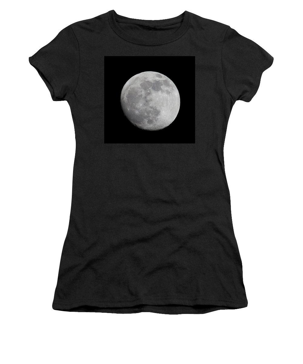 Women's T-Shirt featuring the photograph Moon1 by Brian Jordan