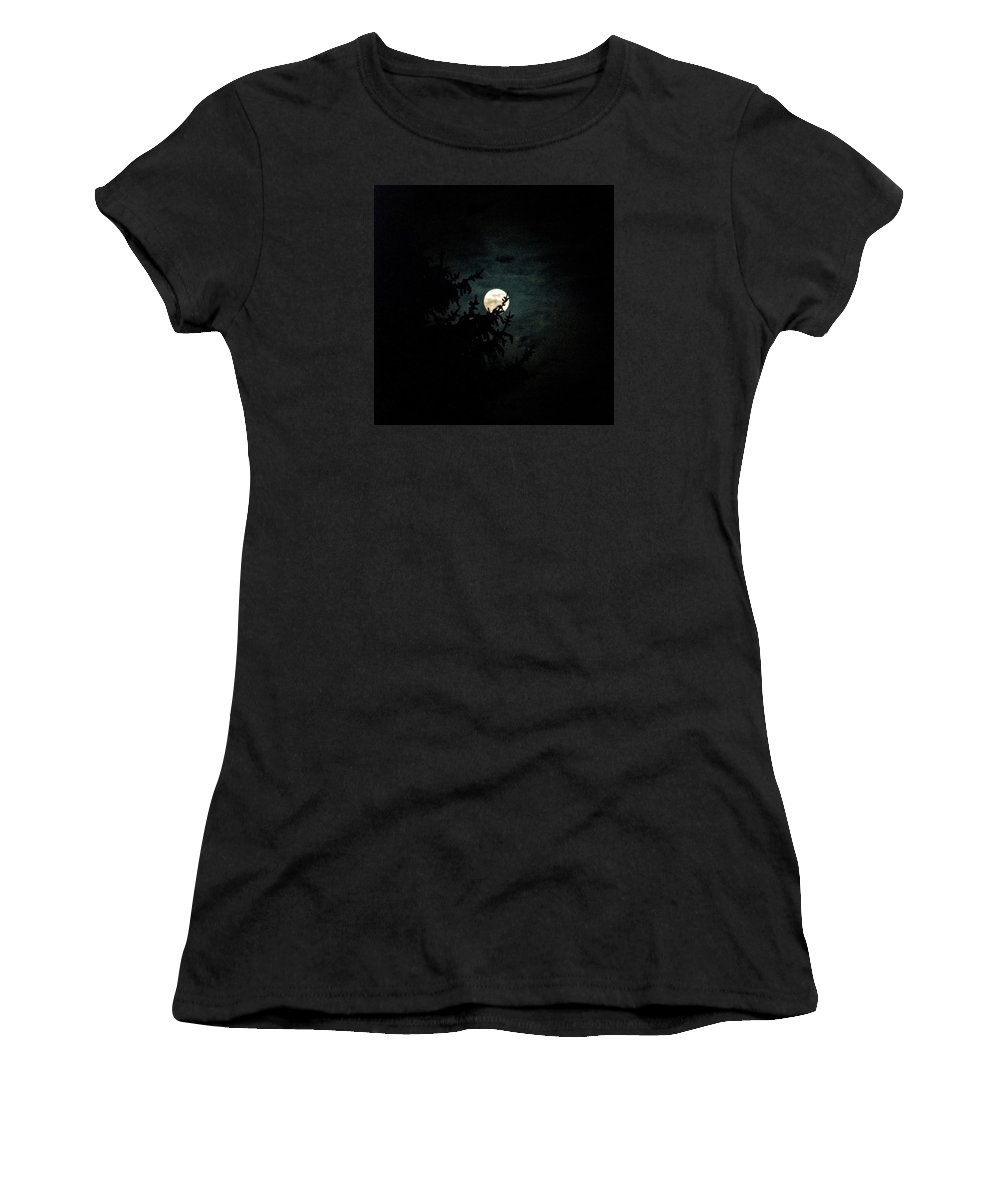 Women's T-Shirt (Athletic Fit) featuring the photograph Moonlight by Carol Eliassen