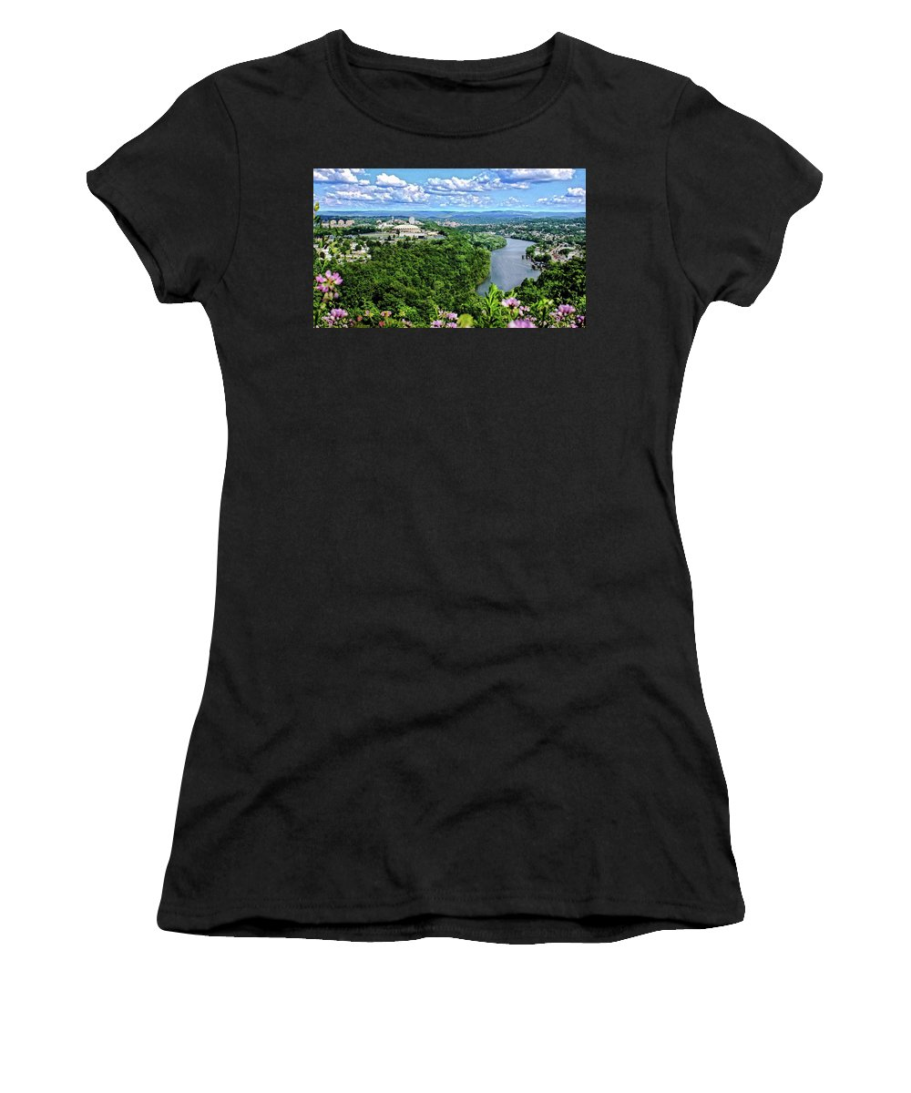Morgantown Women's T-Shirt (Athletic Fit) featuring the photograph Morgantown Wv by Michael Forte