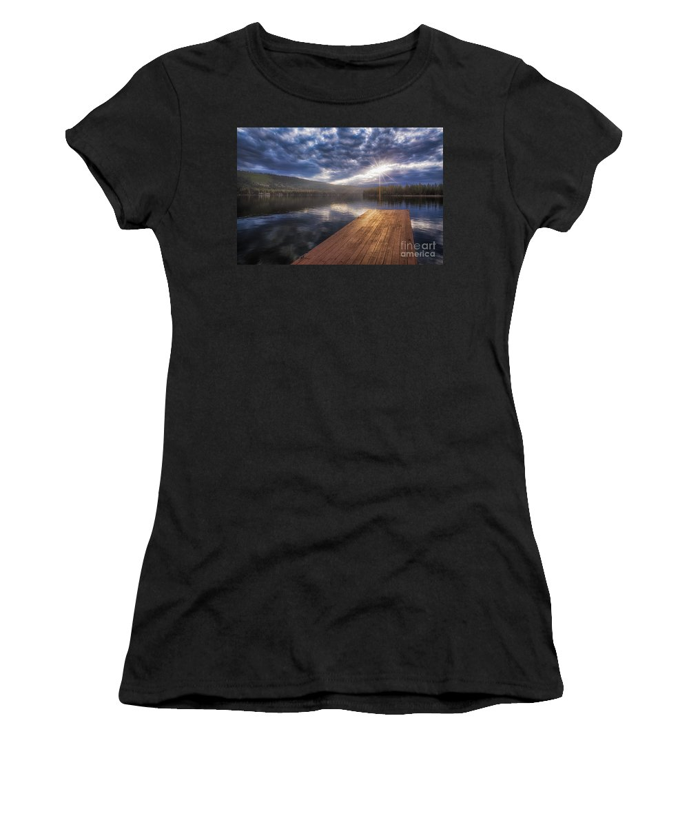 Donner Lake Women's T-Shirt featuring the photograph Morning by Anthony Michael Bonafede