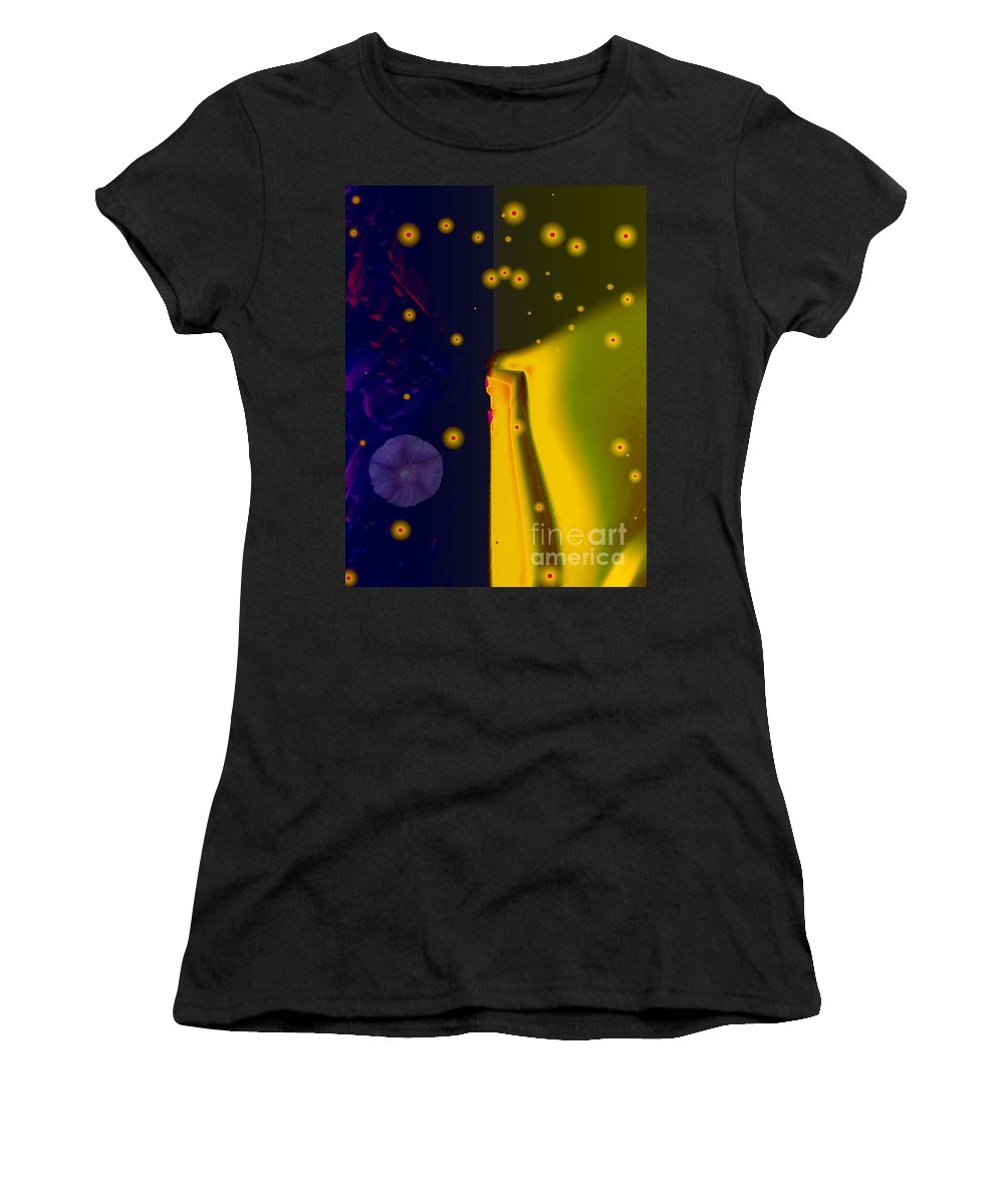 Blue Women's T-Shirt (Athletic Fit) featuring the photograph Morning Glory Dream by Dawn Downour
