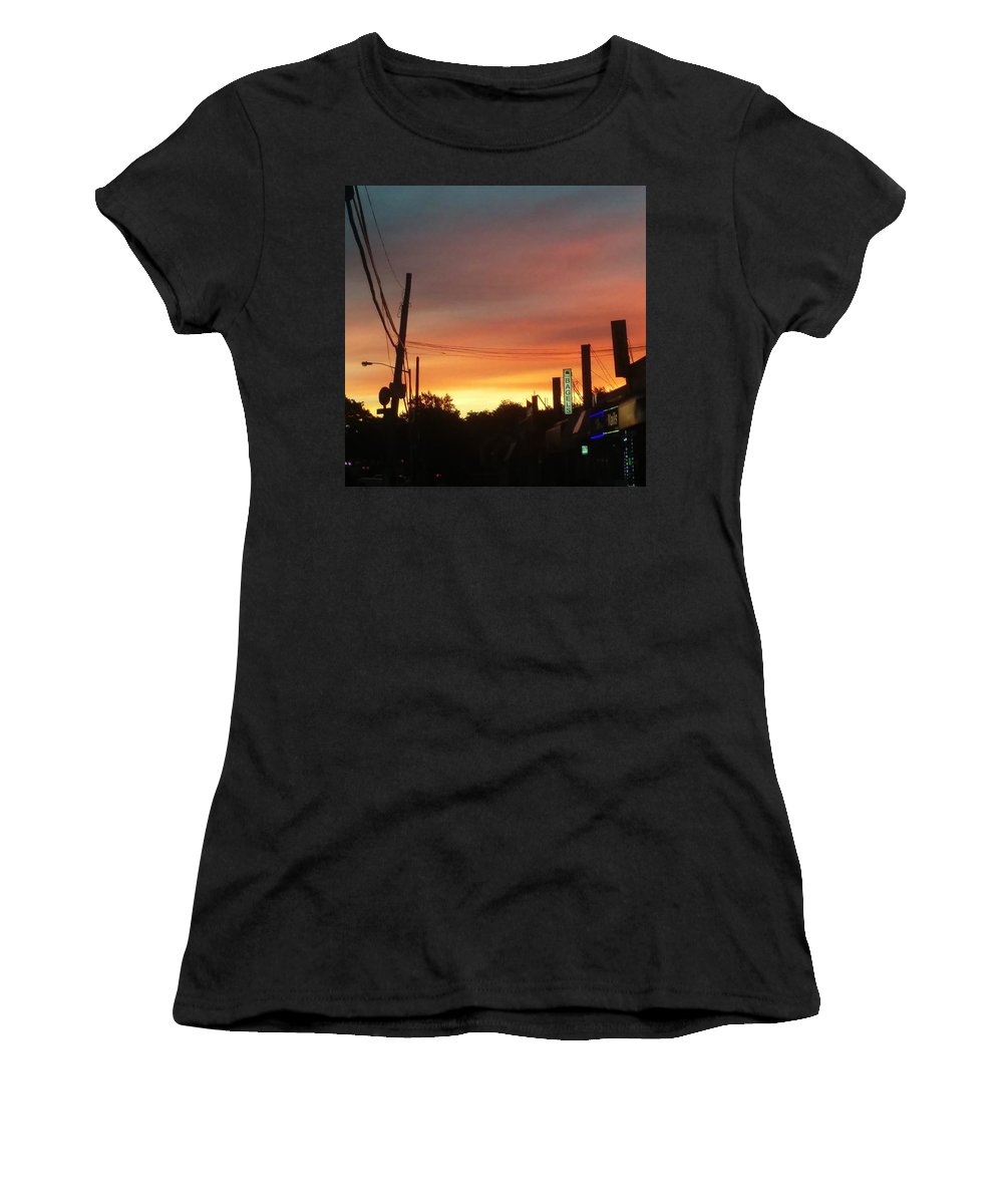 Photo Women's T-Shirt (Athletic Fit) featuring the photograph Morning by Hope Bowie-Jones