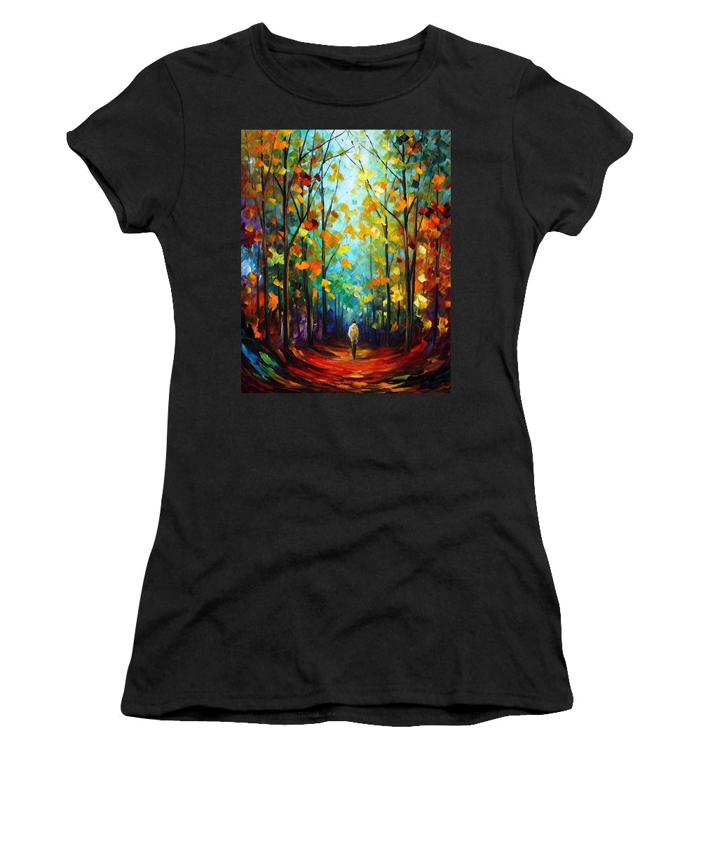 Afremov Women's T-Shirt featuring the painting Morning Mood by Leonid Afremov