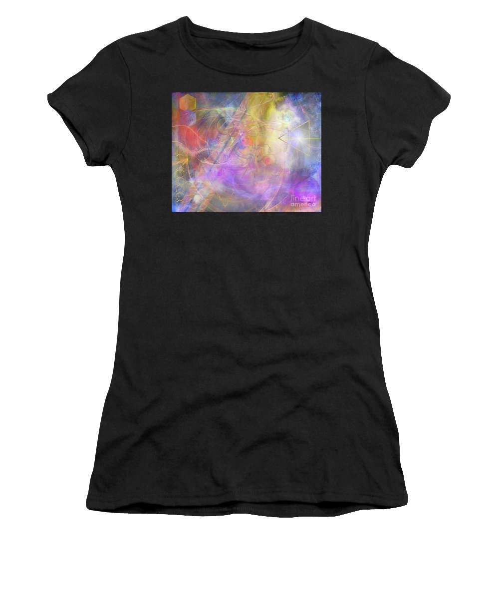 Morning Star Women's T-Shirt (Athletic Fit) featuring the digital art Morning Star by John Beck