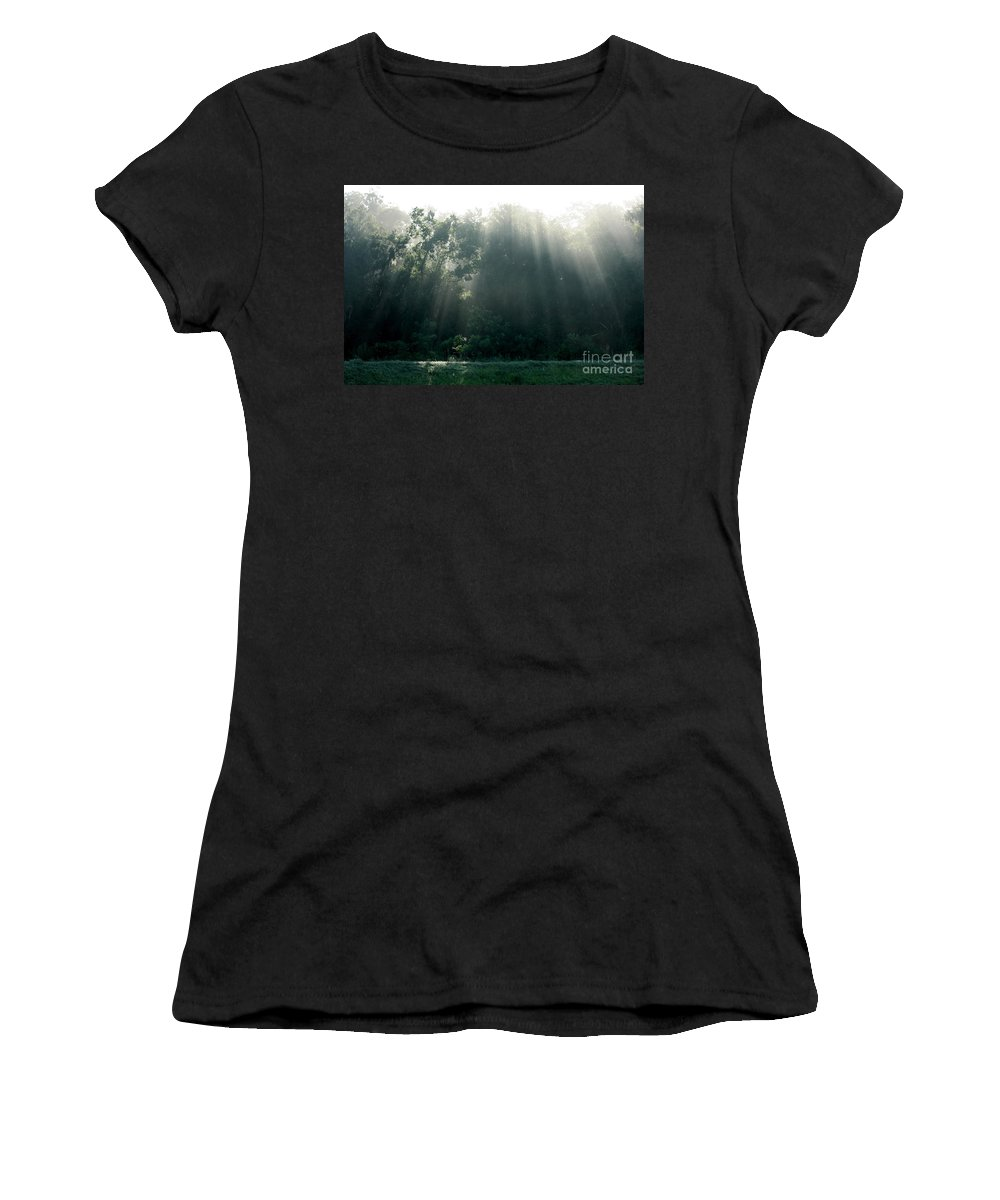 Light Women's T-Shirt (Athletic Fit) featuring the photograph Morning Sunshine by Carol Groenen