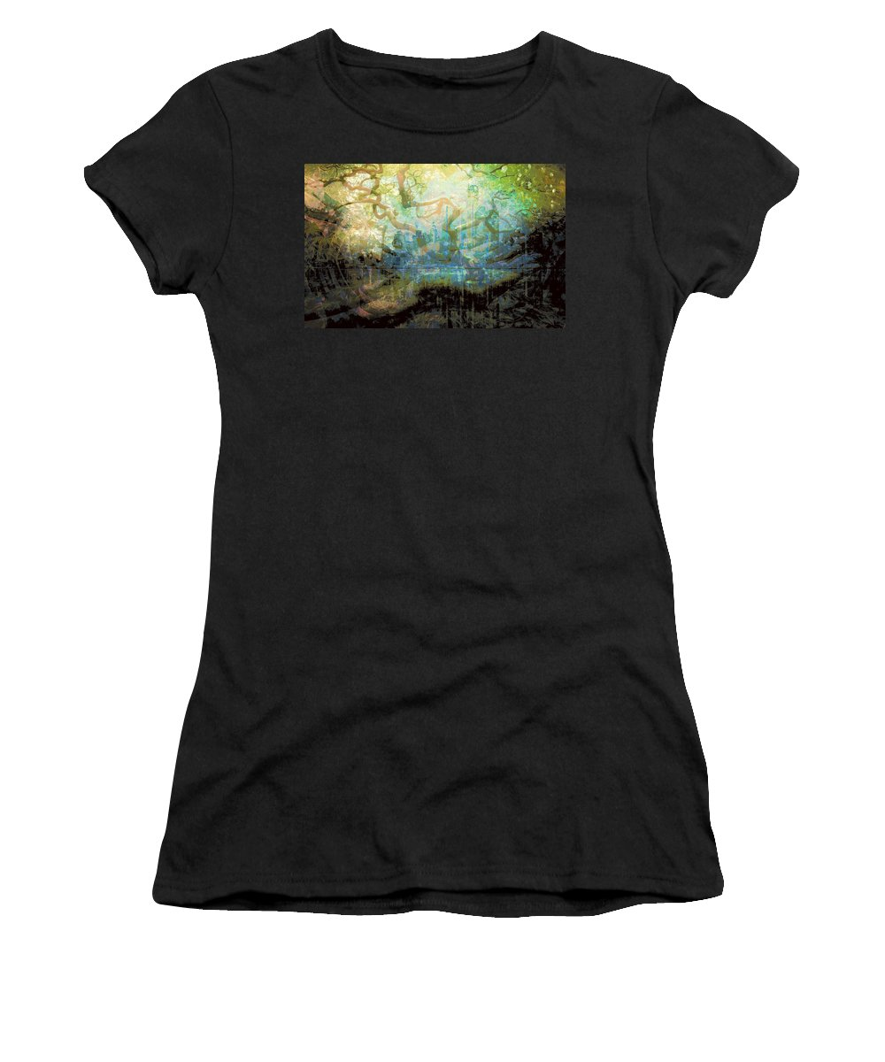 Women's T-Shirt (Athletic Fit) featuring the photograph Morning View by Jerry Lawhead