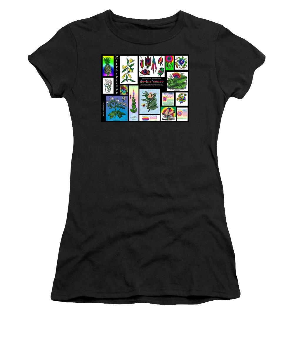 Grasses Women's T-Shirt featuring the digital art Mosaic Of Retrocollage II by Eric Edelman