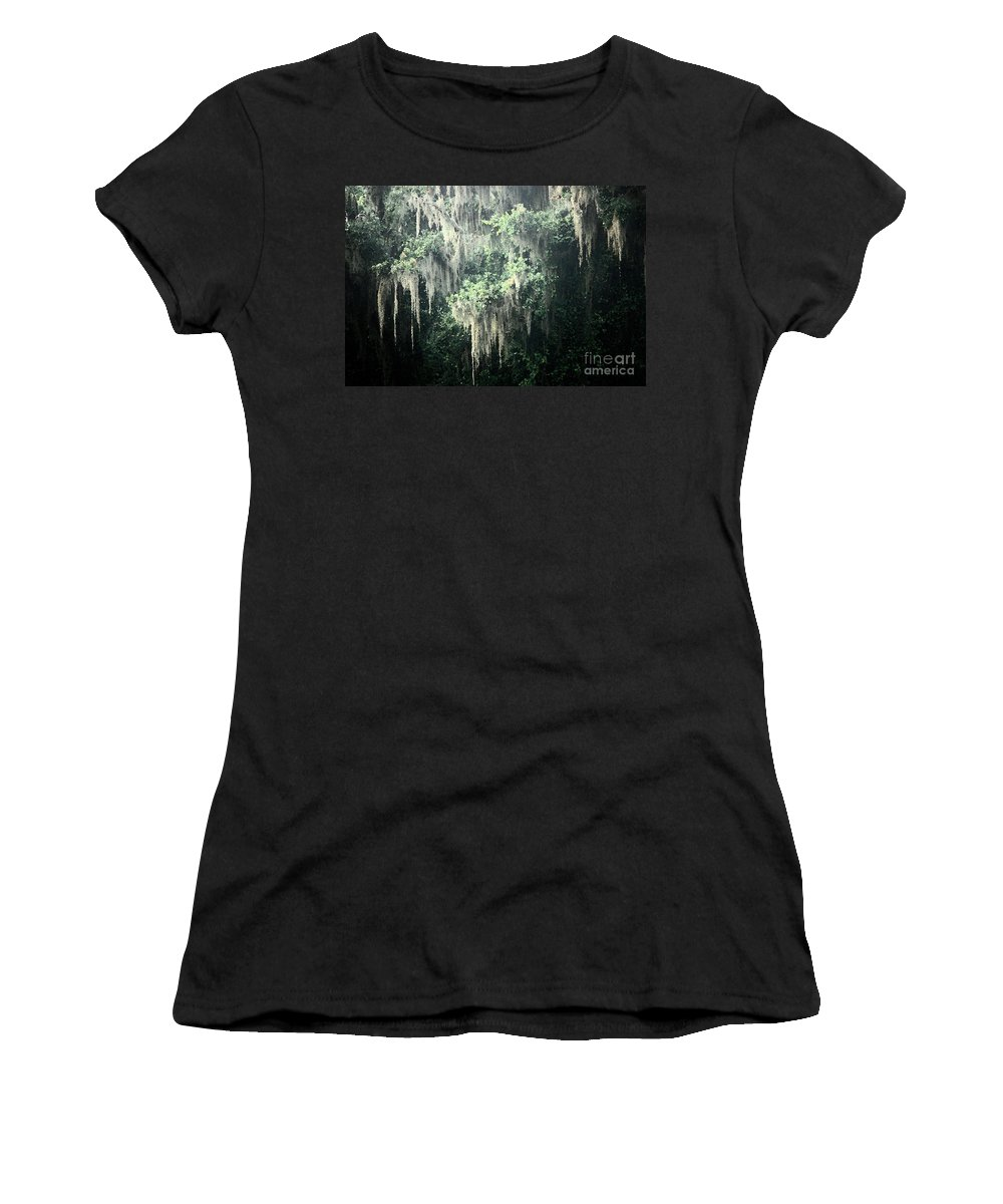 Nature Abstract Women's T-Shirt featuring the photograph Mossy Dream by Carol Groenen