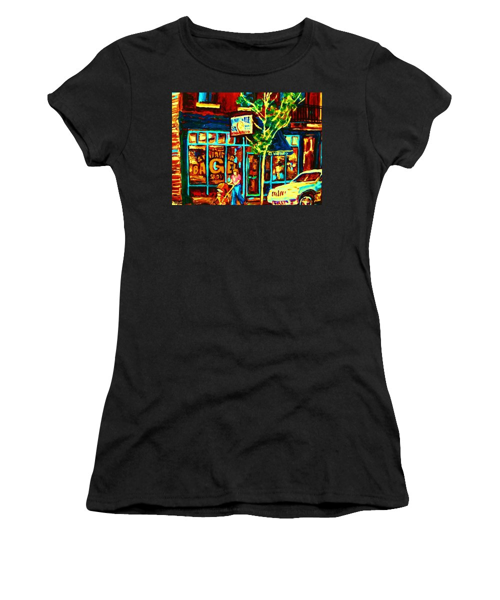 St Women's T-Shirt (Athletic Fit) featuring the painting Mother And Child by Carole Spandau