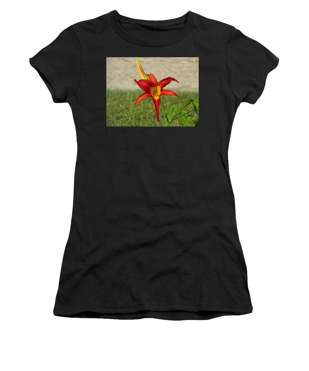 Yellow Women's T-Shirt (Athletic Fit) featuring the photograph Mother And Child by Justin Roles