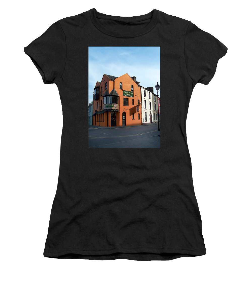 Ireland Women's T-Shirt (Athletic Fit) featuring the photograph Mother India Restaurant Athlone Ireland by Teresa Mucha
