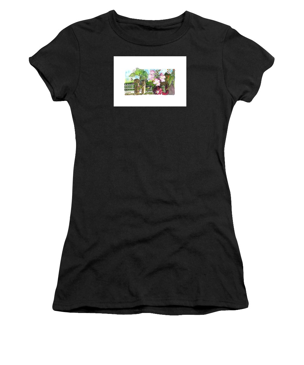 French Countryside Women's T-Shirt (Athletic Fit) featuring the painting Moulin Du Breuil,  Cognac by Joan Cordell