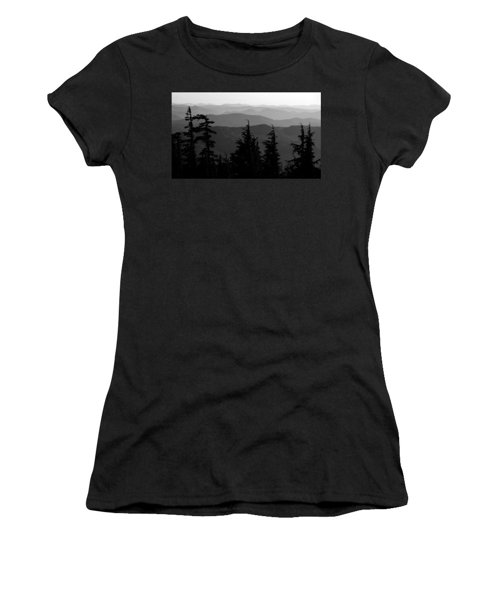 Mount Hood National Forest Women's T-Shirt (Athletic Fit) featuring the photograph Mount Hood National Forest by David Lee Thompson