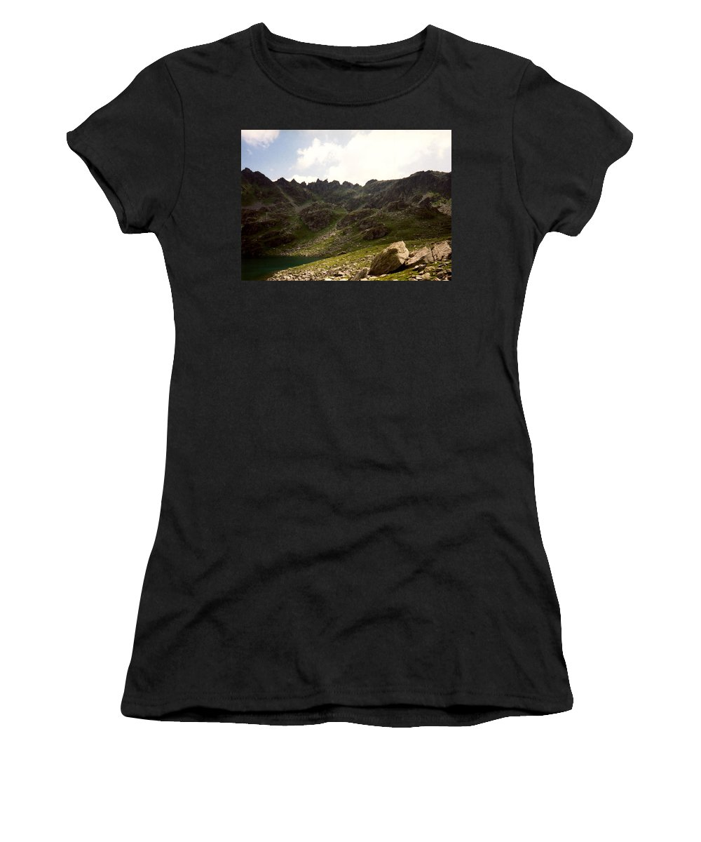 Mountain Women's T-Shirt (Athletic Fit) featuring the photograph Mountain by Catt Kyriacou