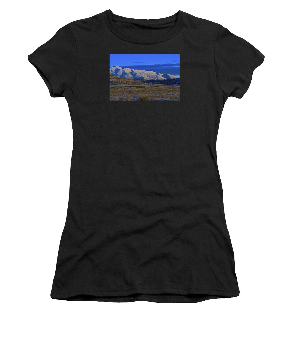 Landscape Women's T-Shirt (Athletic Fit) featuring the photograph Mountain Glow by Markus Eye