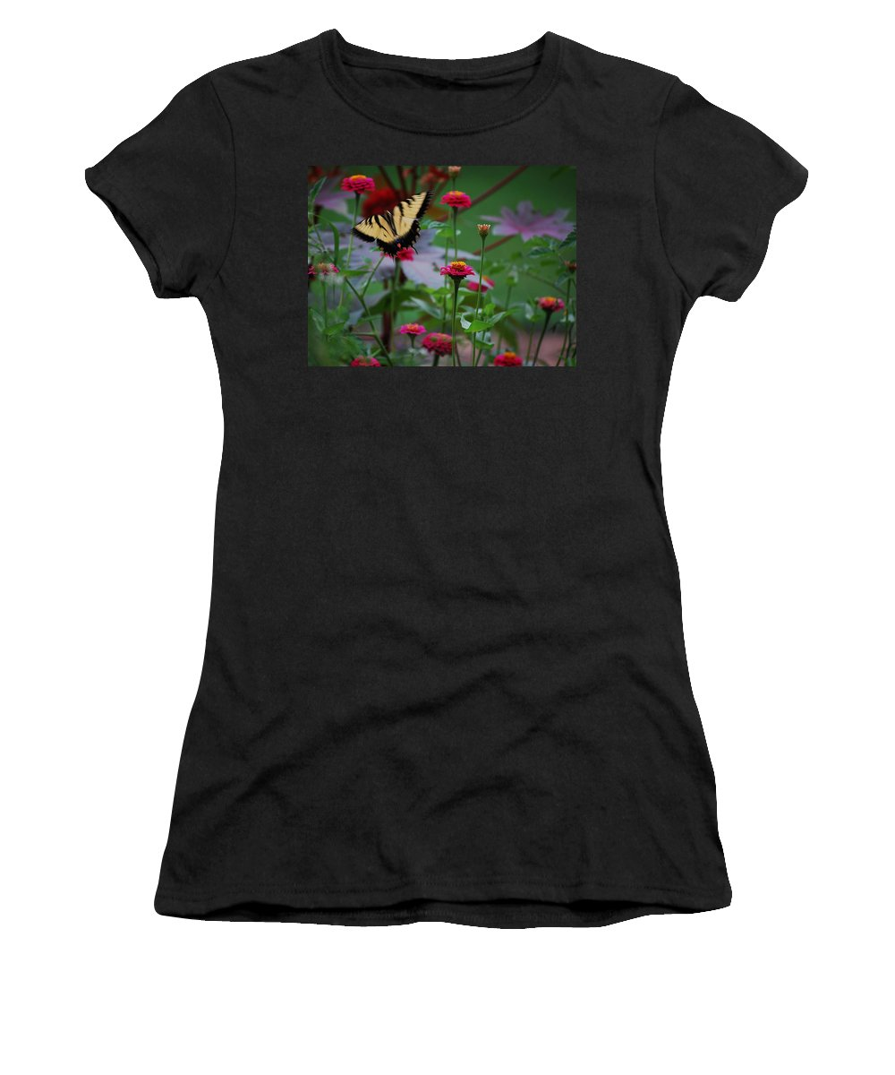 Butterfly Women's T-Shirt (Athletic Fit) featuring the photograph Move On. by Robert Meanor