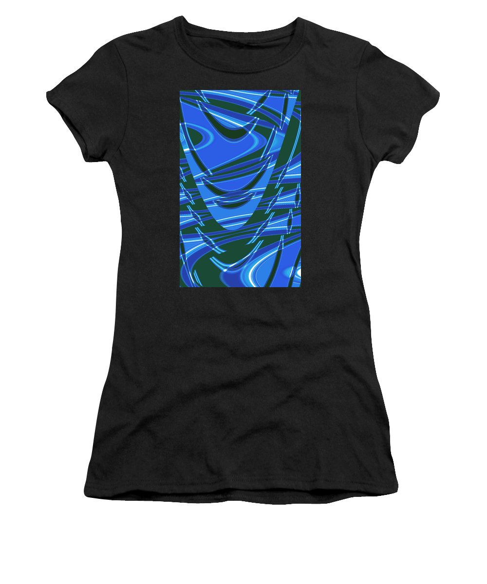 Moveonart Digital Gallery San Francisco California Lower Nob Hill Jacob Kane Kanduch Women's T-Shirt (Athletic Fit) featuring the digital art Moveonart Dream Space 1 by Jacob Kanduch