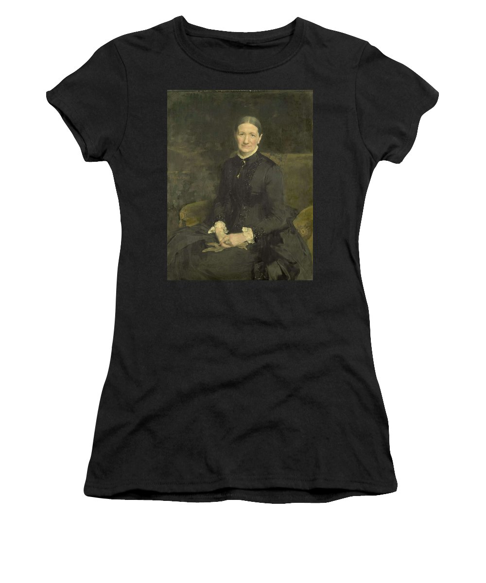 Girl Women's T-Shirt (Athletic Fit) featuring the painting Mrs A.j. Zubli-maschhaupt, Pieter De Josselin De Jong, 1887 by Pieter de Josselin de Jong