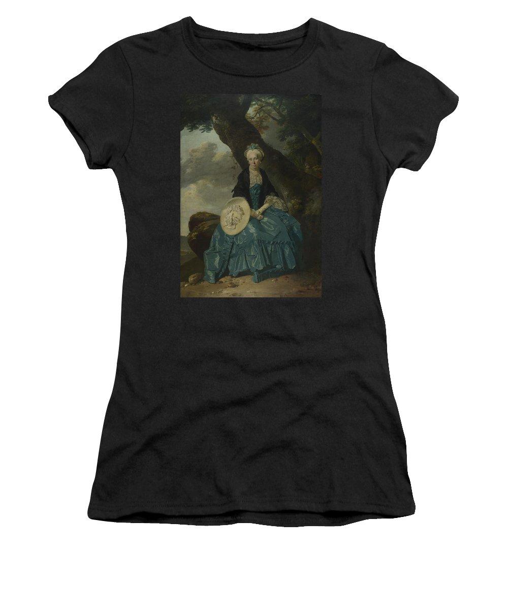 Johann Women's T-Shirt (Athletic Fit) featuring the digital art Mrs Oswald by PixBreak Art