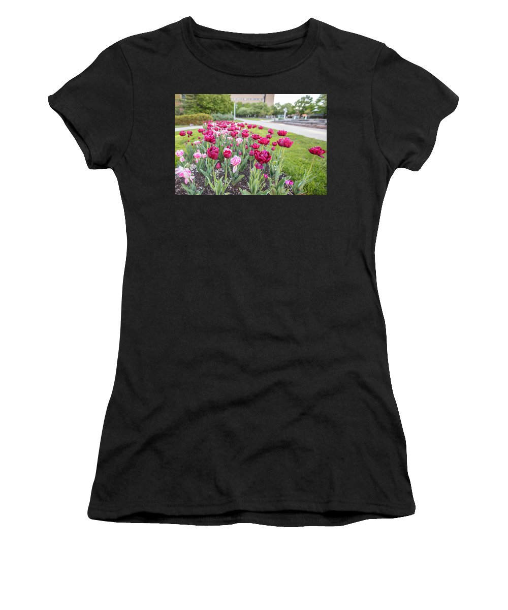 Big Ten Women's T-Shirt (Athletic Fit) featuring the photograph Msu Spring 19 by John McGraw