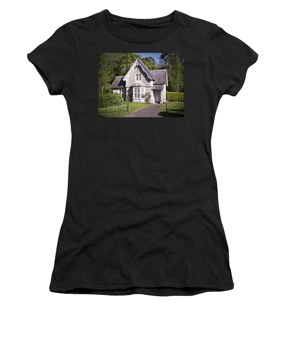 Irish Women's T-Shirt (Athletic Fit) featuring the photograph Muckross Cottage Killarney Ireland by Teresa Mucha