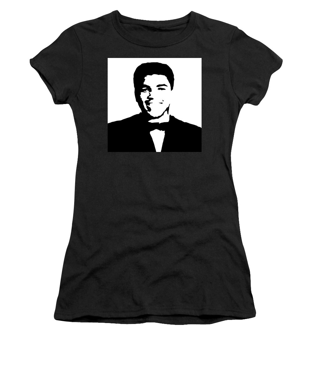 Muhammad Ali Women's T-Shirt (Athletic Fit) featuring the painting Muhammad Ali by Art Spectrum
