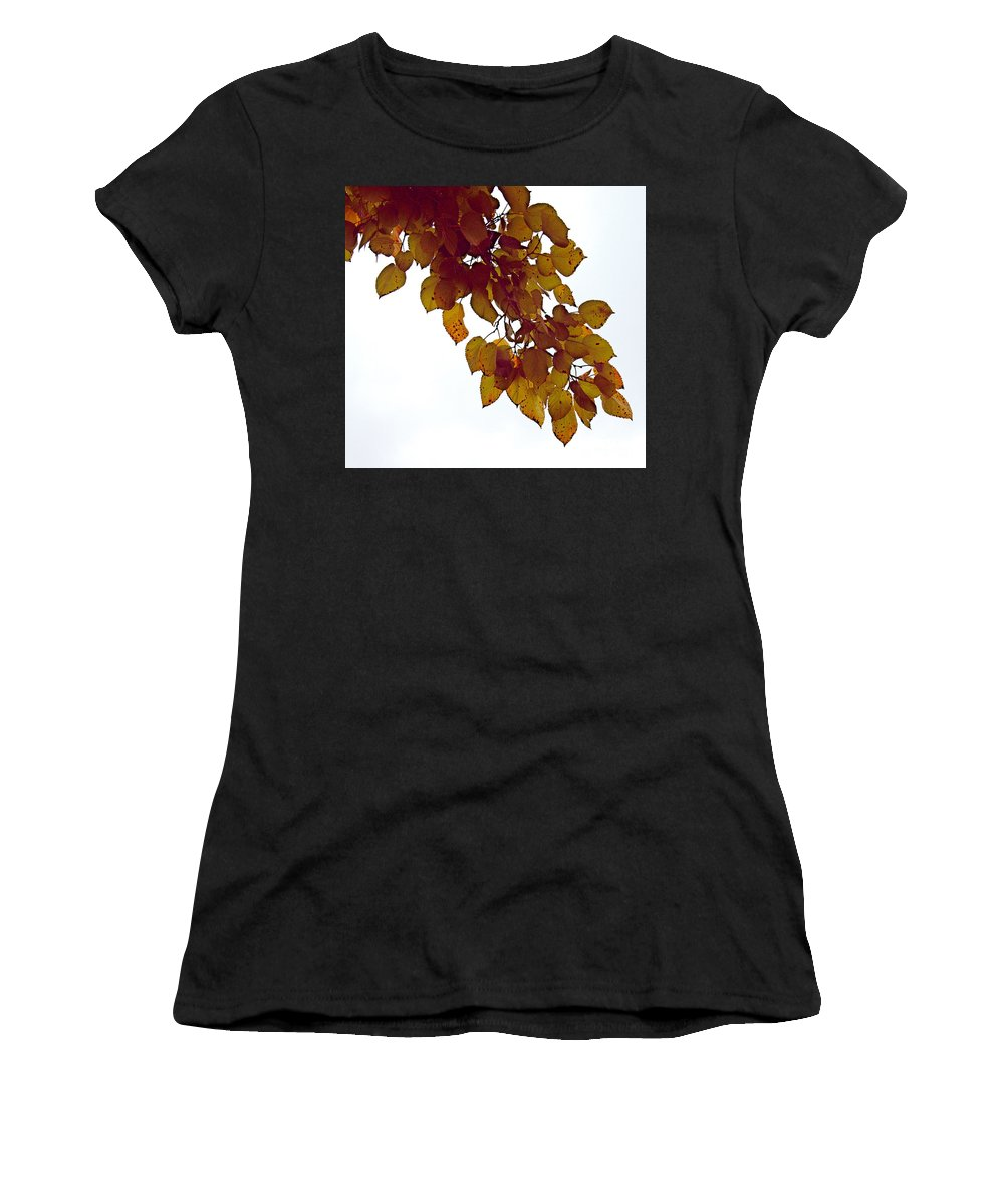 Mulberry Women's T-Shirt (Athletic Fit) featuring the photograph Mulberry Autumn by Gary Richards