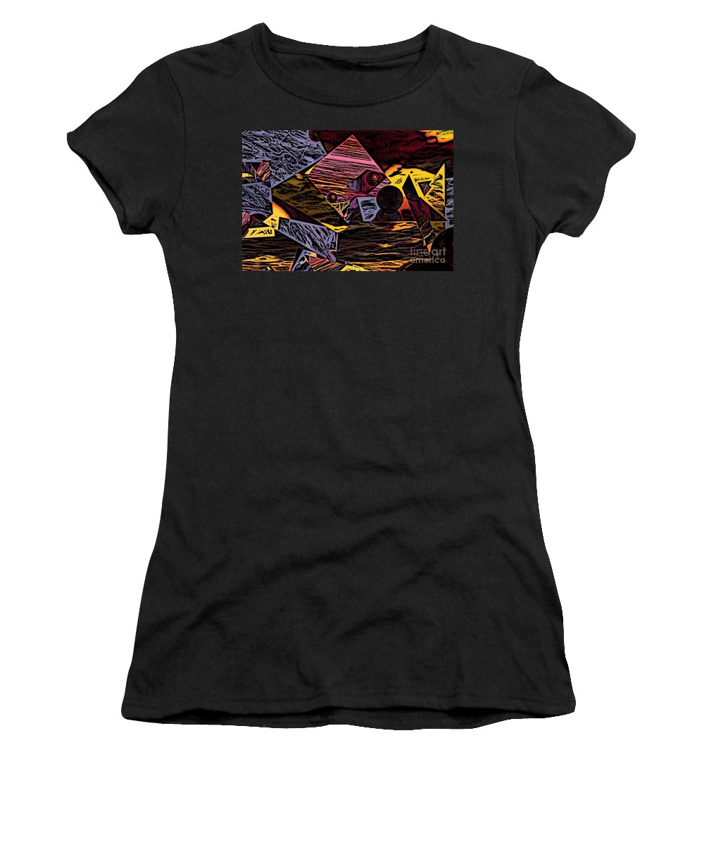 Women's T-Shirt (Athletic Fit) featuring the digital art Multiverse II by David Lane