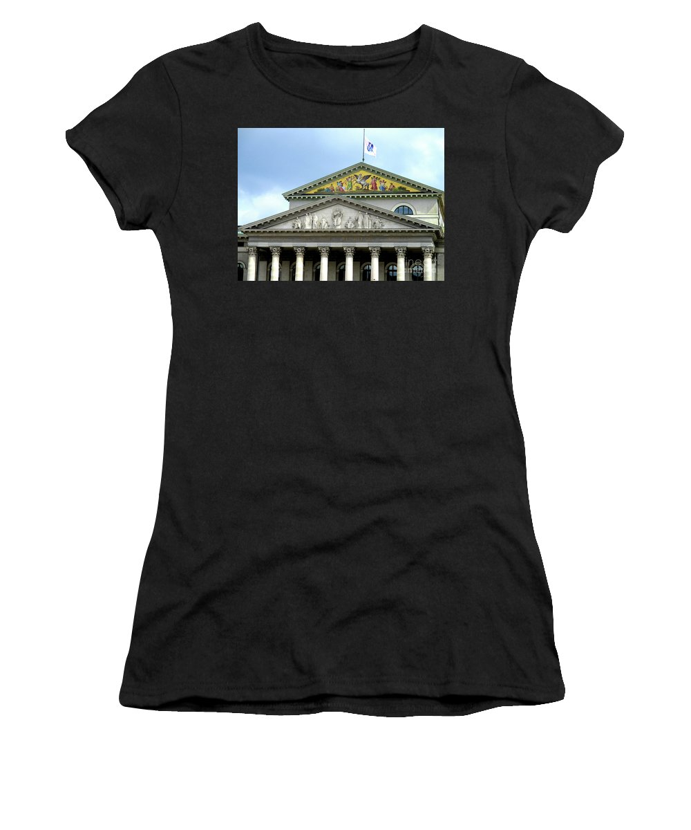 Munich Women's T-Shirt (Athletic Fit) featuring the photograph Munich Detail 7 by Randall Weidner