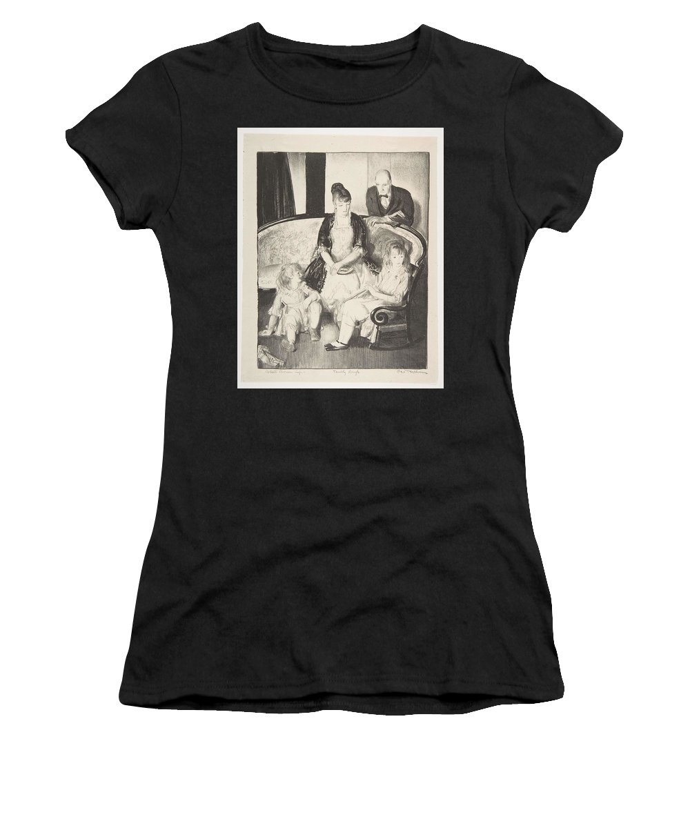 Girl Women's T-Shirt (Athletic Fit) featuring the painting My Family, Second Stone George Bellows by Second Stone George Bellows