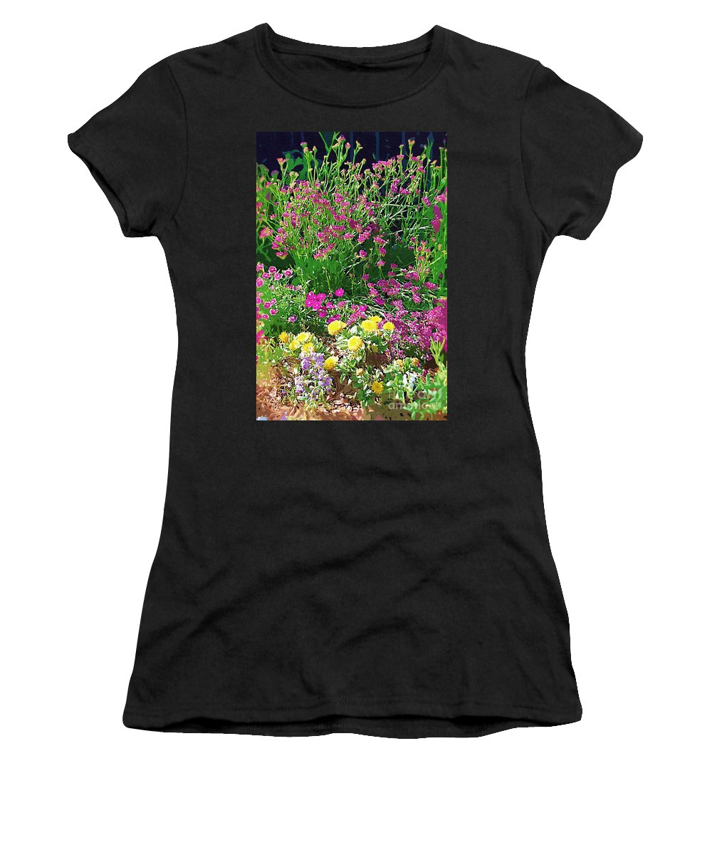 Gardens Women's T-Shirt (Athletic Fit) featuring the photograph My Garden  by Donna Bentley