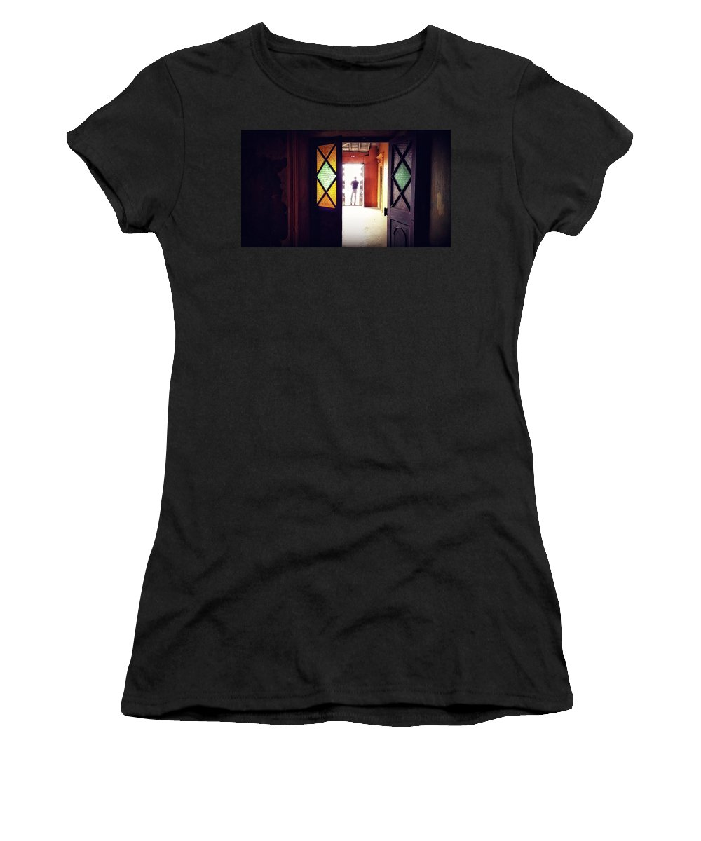 Portrait Women's T-Shirt (Athletic Fit) featuring the photograph My Guru by Nishant Parvathaneni