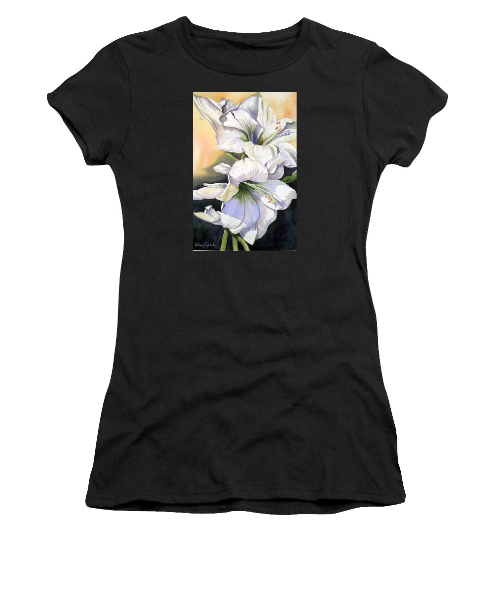 Flower Women's T-Shirt (Athletic Fit) featuring the painting My Love by Tatiana Escobar