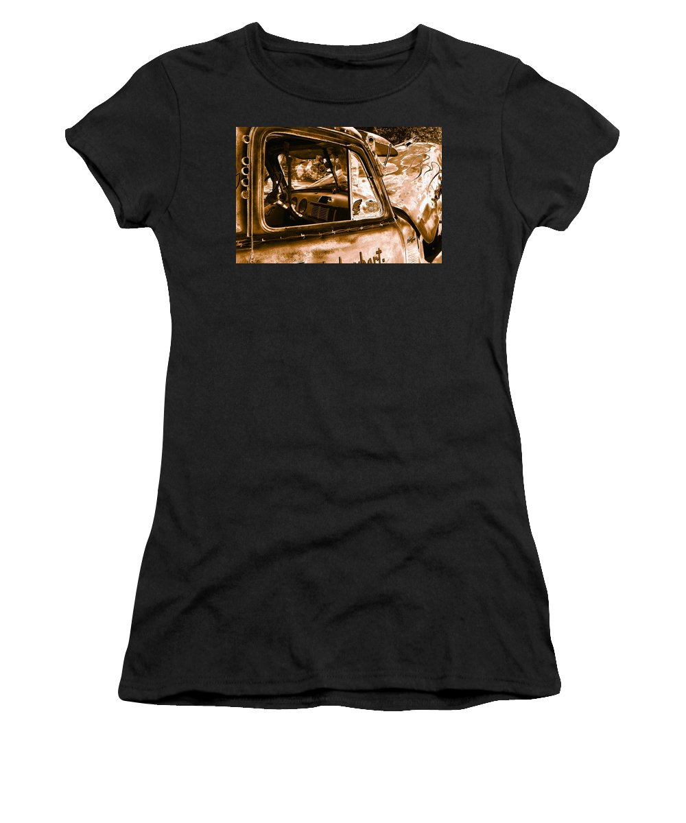 Art Women's T-Shirt (Athletic Fit) featuring the photograph My Old Chevy Truck by David Lee Thompson