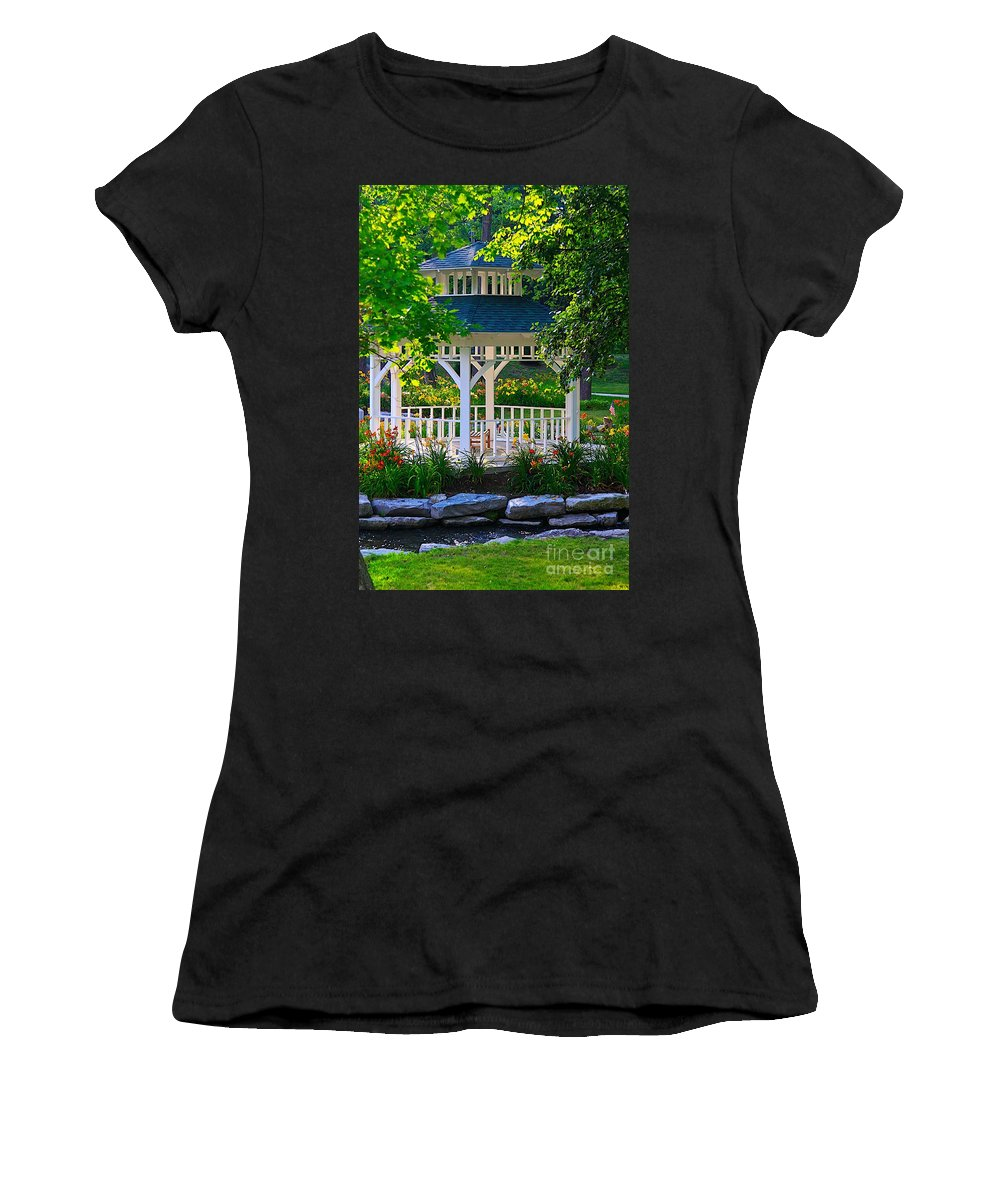 Flowers Women's T-Shirt (Athletic Fit) featuring the photograph My Secret Garden-3 by Robert Pearson