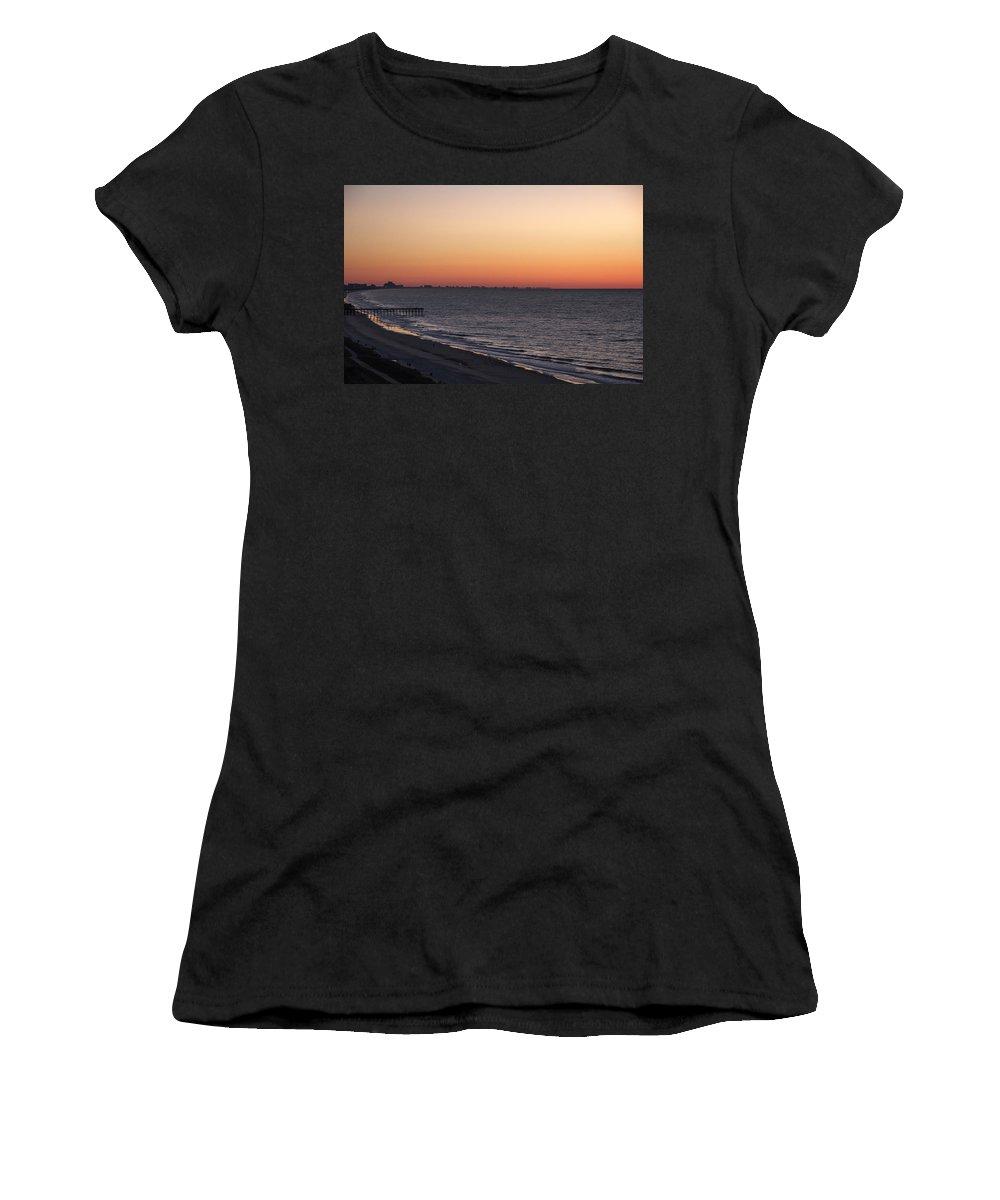 Landscape Women's T-Shirt featuring the photograph Myrtle Beach Pier by Barbara Blanchard