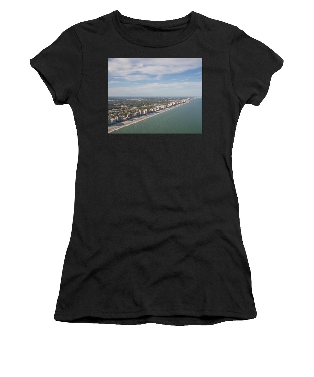 Landscape Women's T-Shirt featuring the photograph Myrtle Beach Skyview by Barbara Blanchard