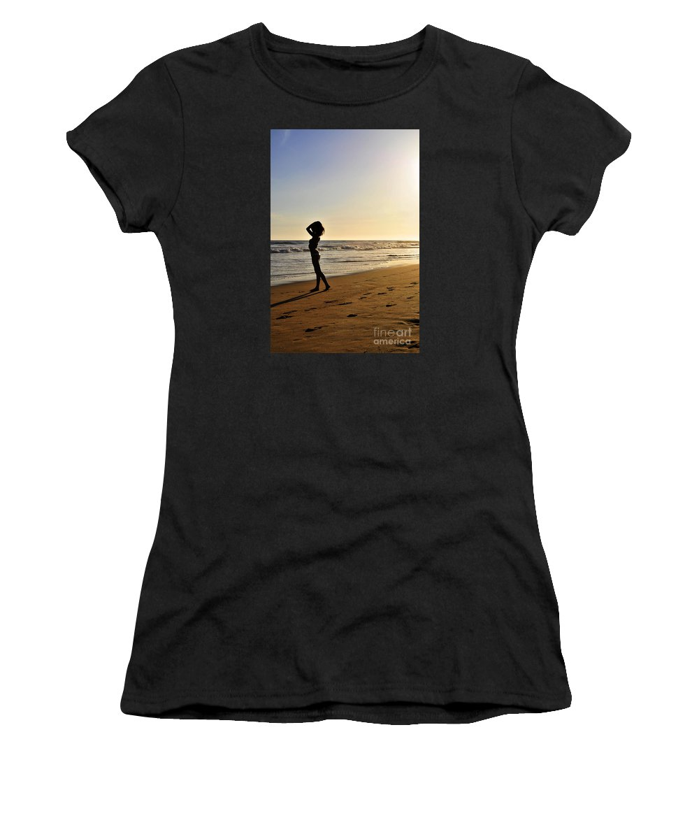 Glamour Photographs Women's T-Shirt (Athletic Fit) featuring the photograph Mystic Sunset by Robert WK Clark