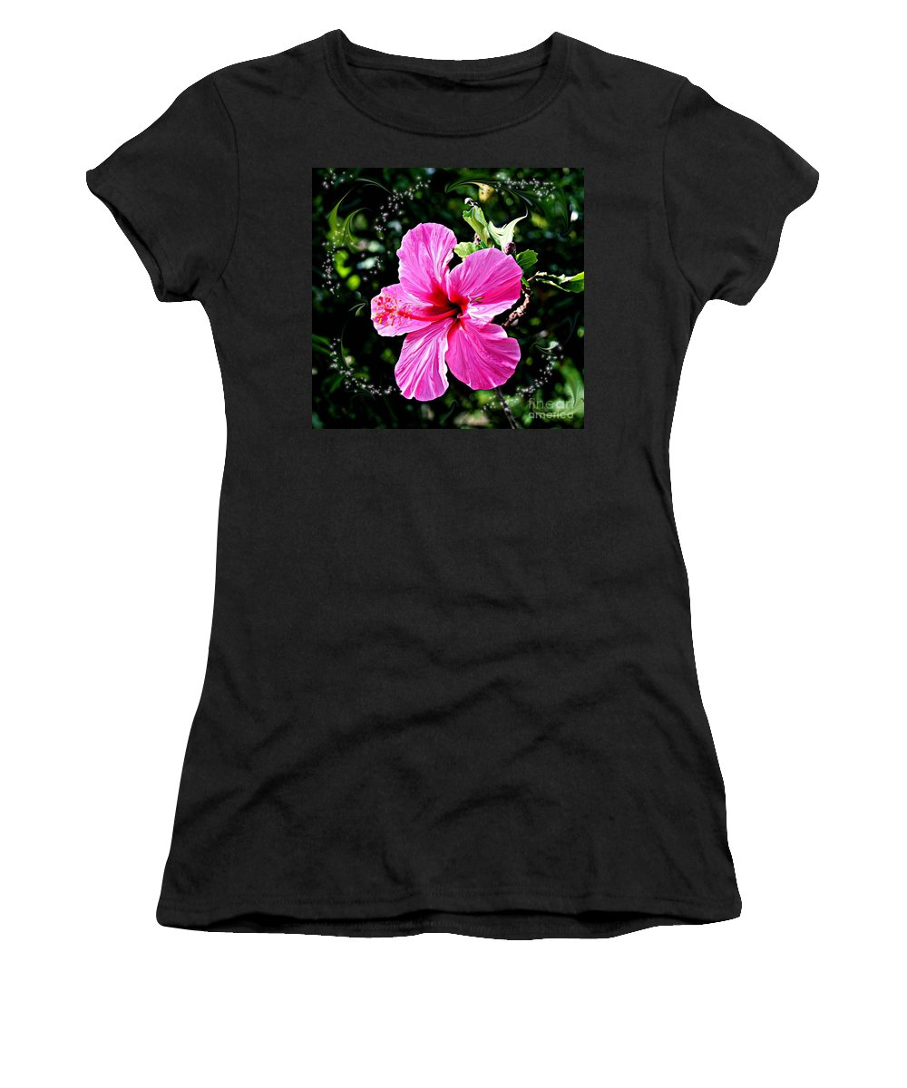 Flowers Women's T-Shirt (Athletic Fit) featuring the photograph Mystical Bloom by The Art of Alice Terrill