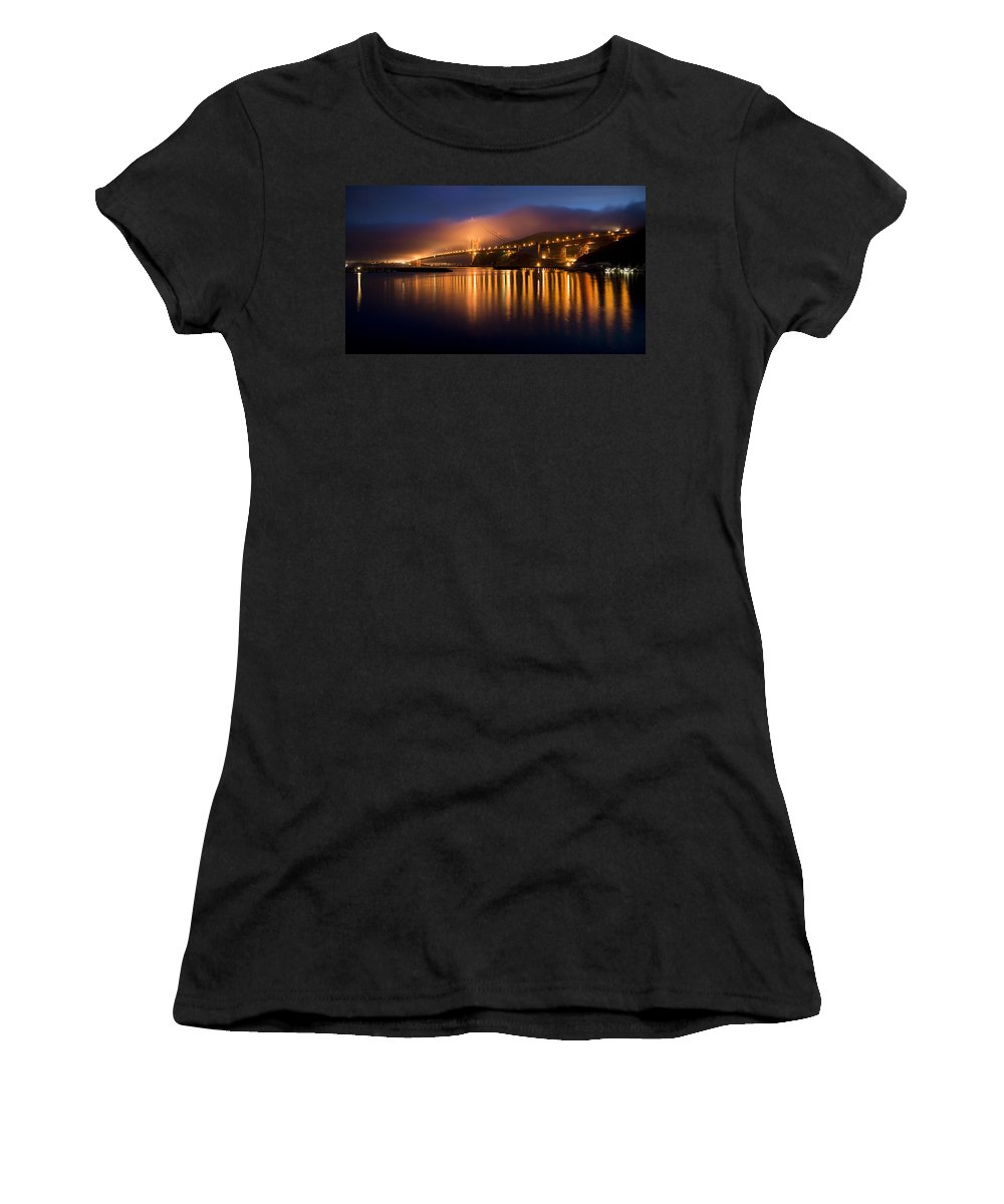 Mystical Golden Gate Bridge Women's T-Shirt featuring the photograph Mystical Golden Gate Bridge by Stan Angel