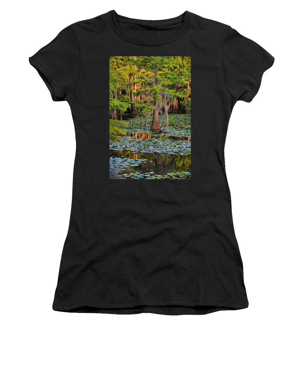 Bog Women's T-Shirt (Athletic Fit) featuring the photograph Naked by Skip Hunt