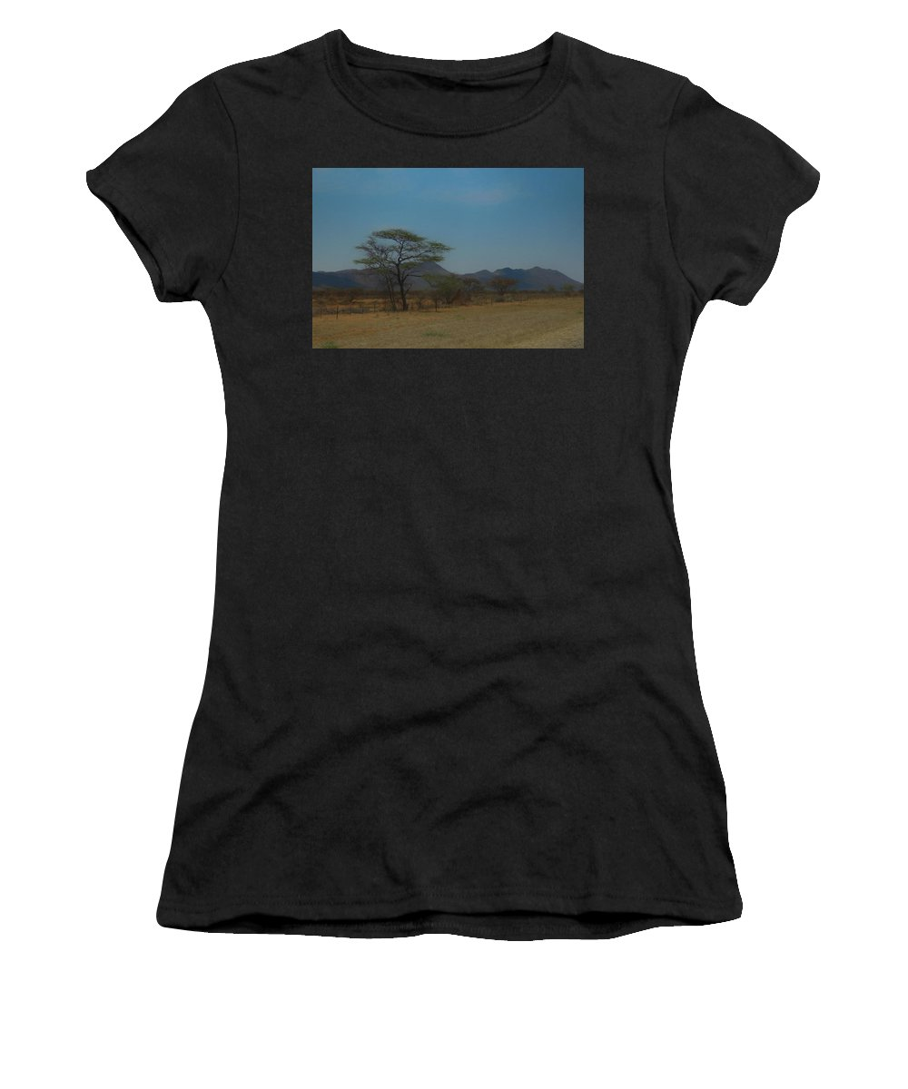 Namibia Women's T-Shirt (Athletic Fit) featuring the digital art Namibia Landscape by Ernie Echols