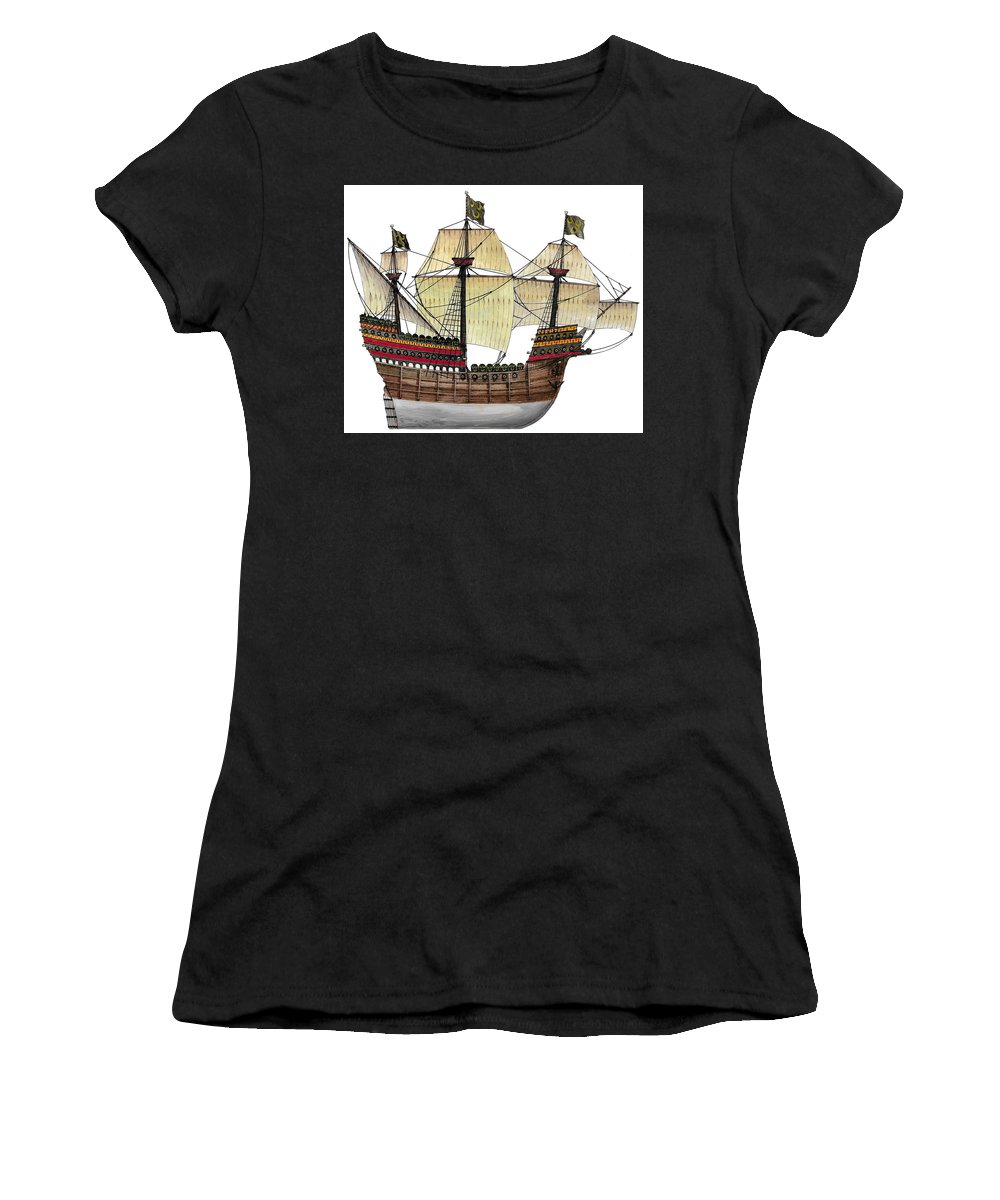 Nao Women's T-Shirt featuring the painting Nao by The Collectioner