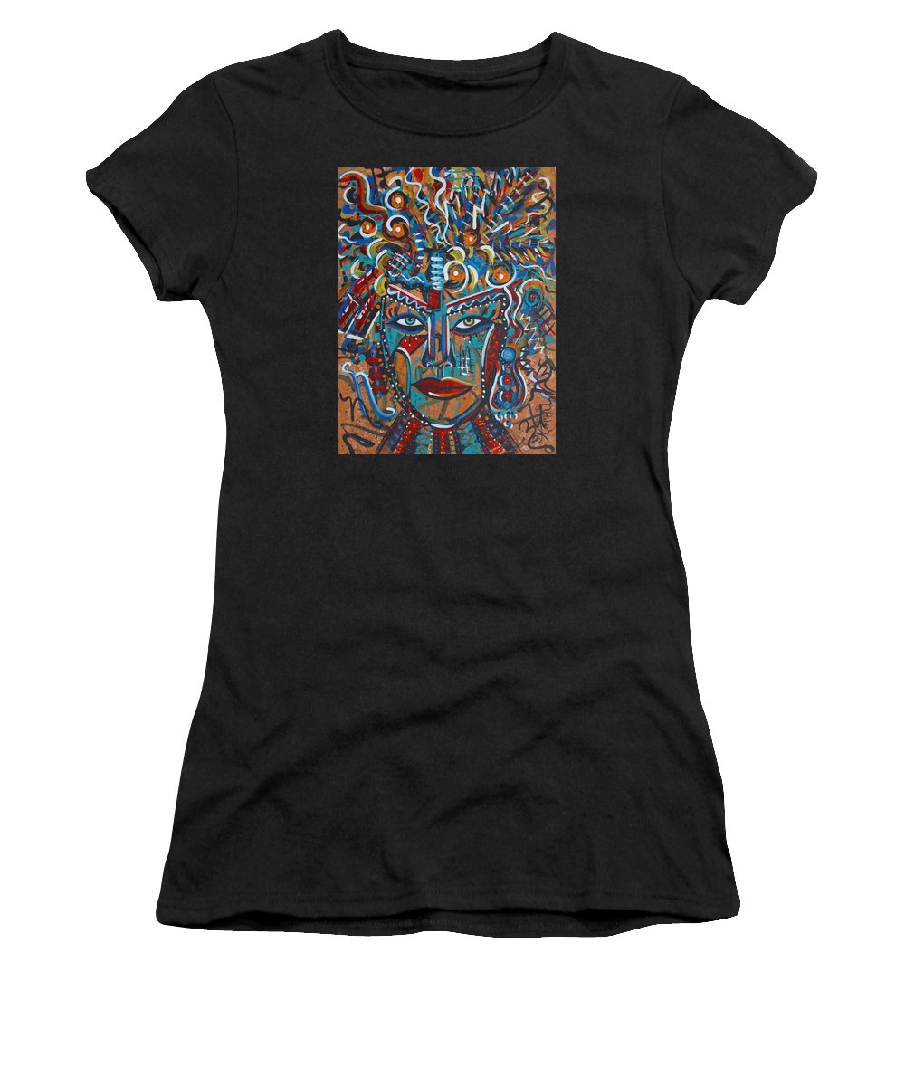 Abstract Women's T-Shirt featuring the painting Nataliana by Natalie Holland