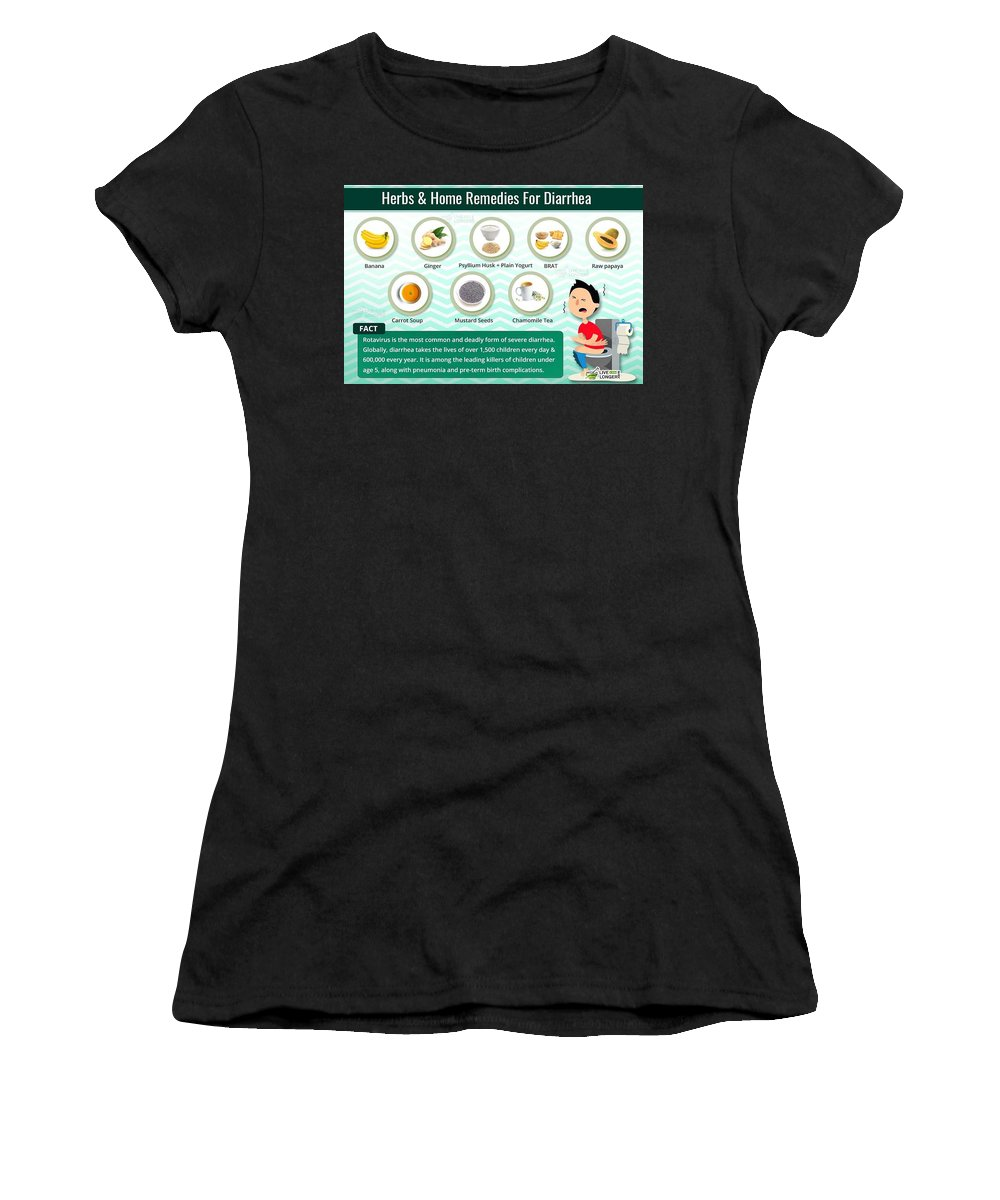 Home Remedies For Diarrhea Women's T-Shirt (Athletic Fit) featuring the photograph Natural Home Remedies For Diarrhea In Kids And Adults by Health And Fitness