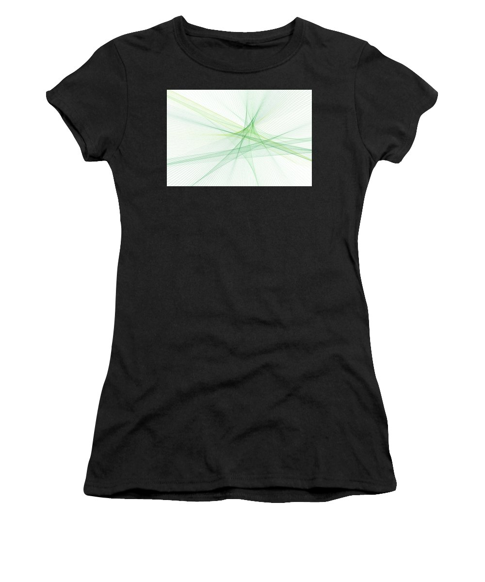 Abstract Women's T-Shirt (Athletic Fit) featuring the digital art Nature Computer Graphic Line Pattern by Frank Ramspott
