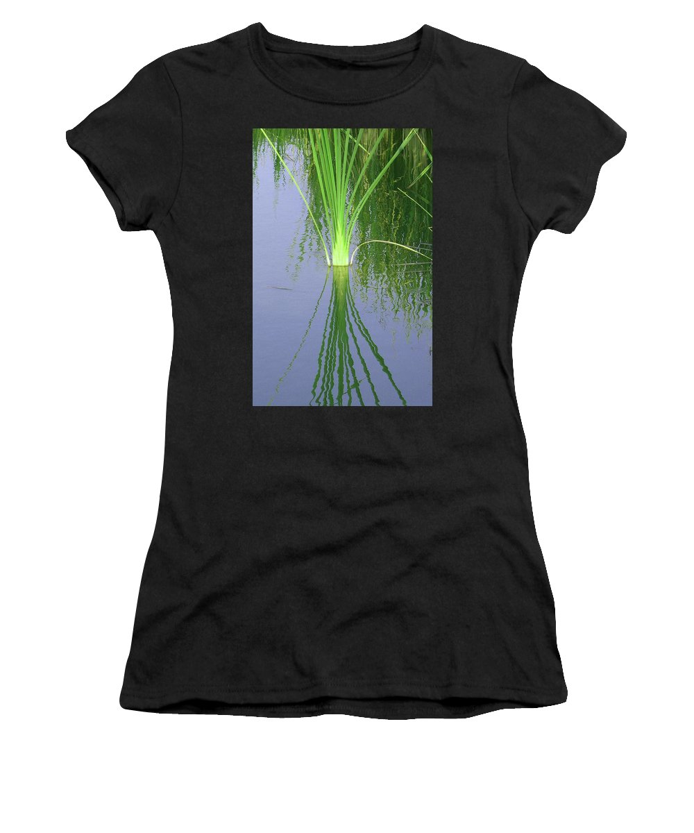 Reed Women's T-Shirt (Athletic Fit) featuring the photograph Nature Echoed by Dee McElroy